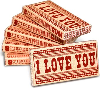 Funny Gum - I Love You - 6-Pack