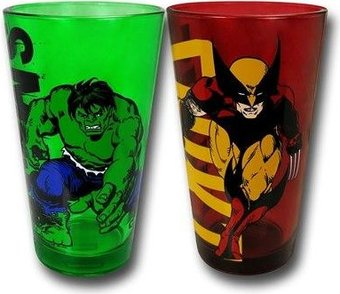 Marvel Comics - Wolverine & Hulk - 2 Piece 16oz.