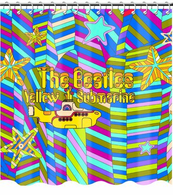 Yellow Submarine: Vinyl Shower Curtain