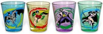 DC Comics - Batman - 4-Piece Shot Glass Set