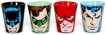 DC Comics - Faces - 4-Piece Shot Glass Set