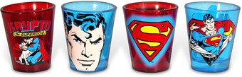 DC Comics - Superman - 4-Piece Shot Glass Set