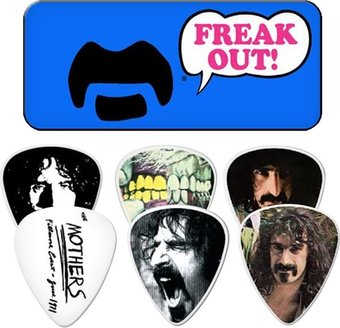 Frank Zappa Blue Pick Tin - 6 Medium Picks