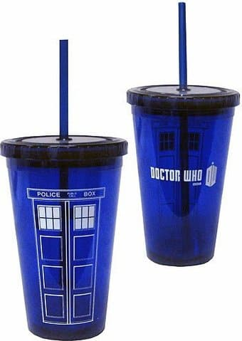 Doctor Who - TARDIS - Acrylic Cup with Straw