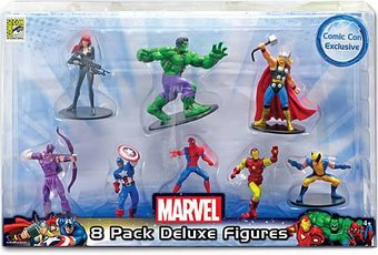 Marvel Comics - 8 Pack Deluxe Mini Figures