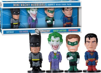 DC Comics - Mini Wacky Wobbler 4-Piece Set