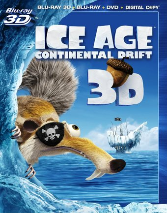 Continental Drift 3D (Blu-ray + DVD)