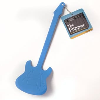 Guitar the flipper blue silicone guitar spatula gamago - Guitar shaped spatula ...