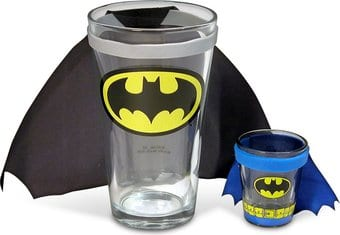 Batman Caped Glass Gift Set
