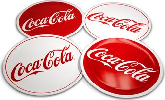 "Coca-Cola Red & White 11"" Diameter Melamine Plate"