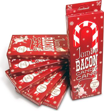 Jumbo Bacon Candy Cane - 6 Canes