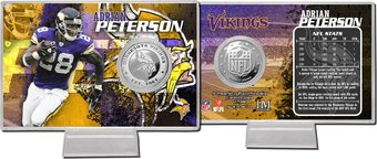 Minnesota Vikings: Adrian Peterson Silver Coin