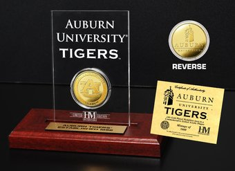 Auburn University Gold Coin Etched Acrylic
