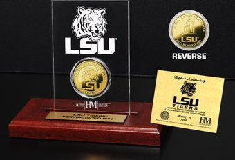 Louisiana State University Gold Coin Etched
