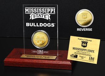 Mississippi State University Gold Coin Etched