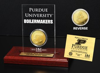 Purdue University Gold Coin Etched Acrylic