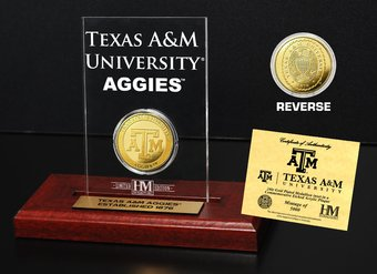 Texas A&M University Gold Coin Etched Acrylic