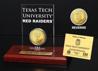 Texas Tech University Gold Coin Etched Acrylic