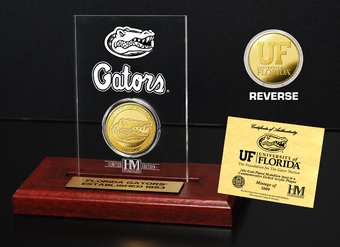 University of Florida Gold Coin Etched Acrylic