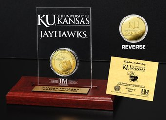 University of Kansas Gold Coin Etched Acrylic