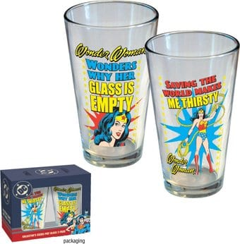 DC Comics - Wonder Woman - 2-Piece 16 oz. Pint