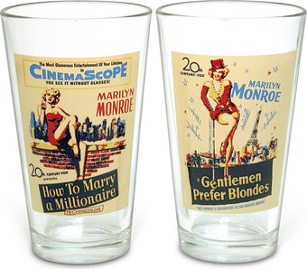 Vintage Movie Posters: Pint Glasses (Set of 2)