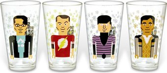 The Big Bang Theory - Pixelated Characters Pint