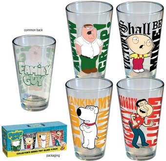 Family Guy - Quotes - 4-Piece Pint Glass Set