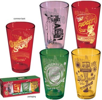 4-Piece Colored Pint Glass Set