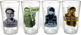 4-Piece Collector's Series Pint Glass Set
