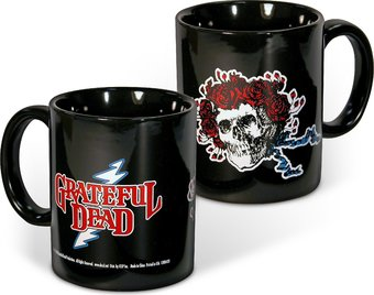 Bertha Skull & Roses - 12 oz. Black Ceramic Mug