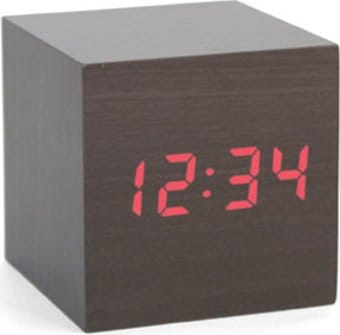 Gadget - Alarm Clock - Dark Wood Cube