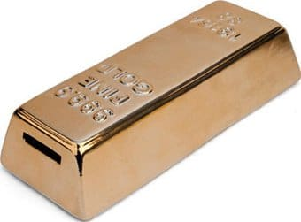 Gold Bar - Ceramic Money Bank