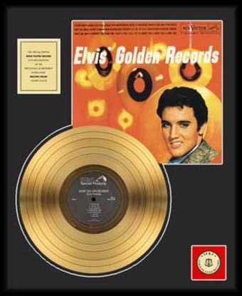 "Golden Records Volume 1 - Framed 18"" x 24"" Gold"
