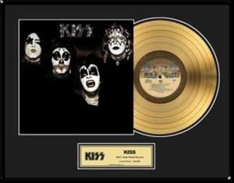 "KISS - Framed Limited Edition 18"" x 24"" Gold LP"