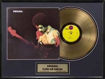 Band of Gypsys: Framed Gold Record (Limited