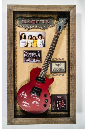The Eagles Eagles Desperado Signed Guitar Luxe West