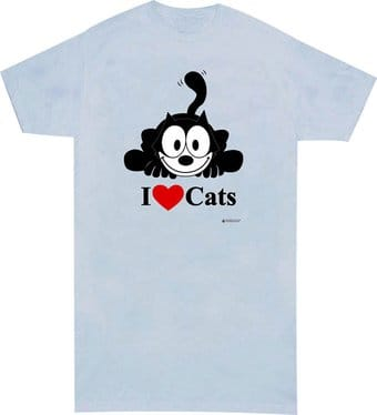 Felix the Cat - I Love Cats - Nightshirt