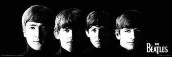 "The Beatles - Black Wall Art Poster (12"" x 36"")"