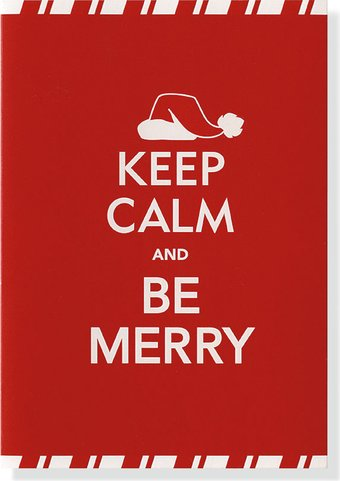 Keep Calm & Be Merry - 20 Greeting cards with