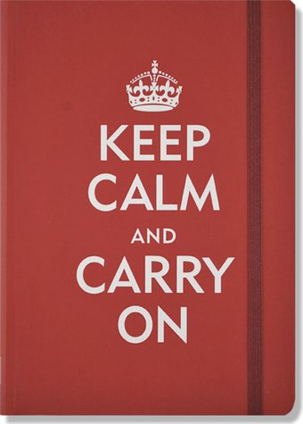 Keep Calm & Carry On - Red Journal