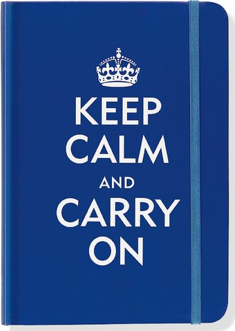 Keep Calm & Carry On - Blue Journal