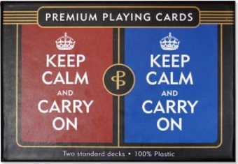 Keep Calm & Carry On - Premium Plastic Playing