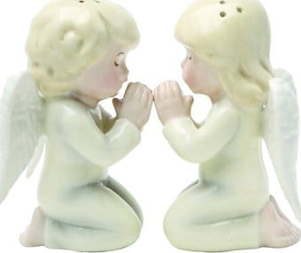 Angels Kneeling - Magnetized Ceramic Salt &