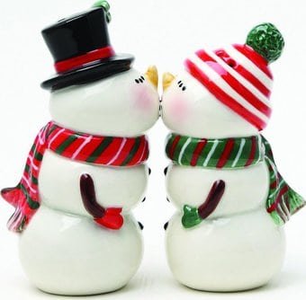 Snow Couple - Salt & Pepper Shakers