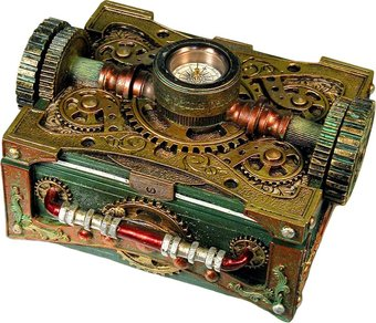 Steampunk - Box with Compass