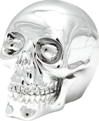 "Skull - Electroplated 3.5"" Resin Skull"