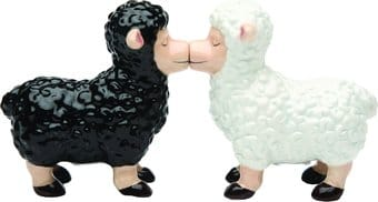 Black and White Sheep - Salt and Pepper Shakers