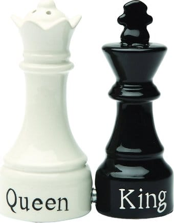 Queen & King Chess - Salt & Pepper Shakers