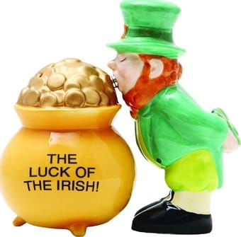 Luck of the Irish!: Leprachaun Kissing a Pot of
